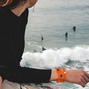 Lokai Bracelets Bundle Size Large NWT Orange with Black Bead Nami Collaboration